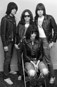 The Ramones backstage at the Tower Theater in Philadelphia