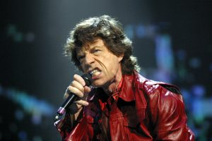 Mick Jagger performing with the Rolling Stones in Philadelphia