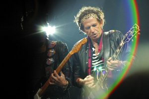 Keith Richards performing with the Rolling Stones in Philadelphia