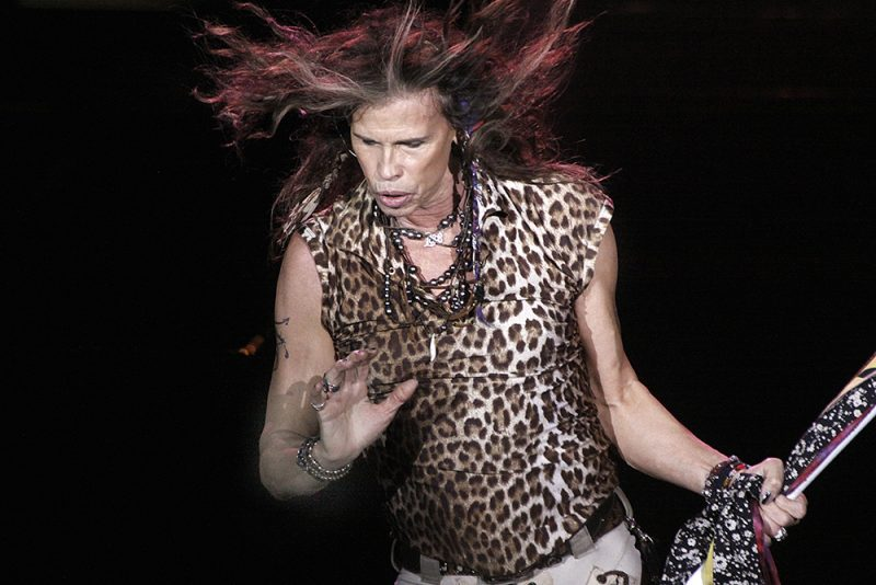 Steven Tyler performing with Aerosmith in Atlantic City