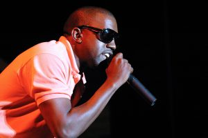 Kanye West performs in San Diego in 2006