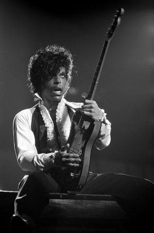 Prince performing in Philadelphia at the Tower Theater
