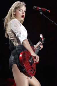 Taylor Swift performing in Philadelphia during the Red tour