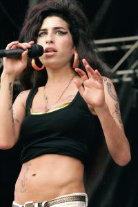 Amy Winehouse performing at Virgin Festival in Baltimore, Maryland