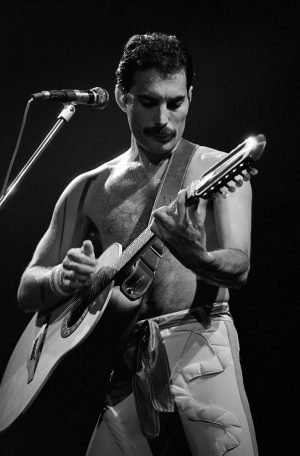 Freddie Mercury performing with Queen at the Spectrum in Philadelphia