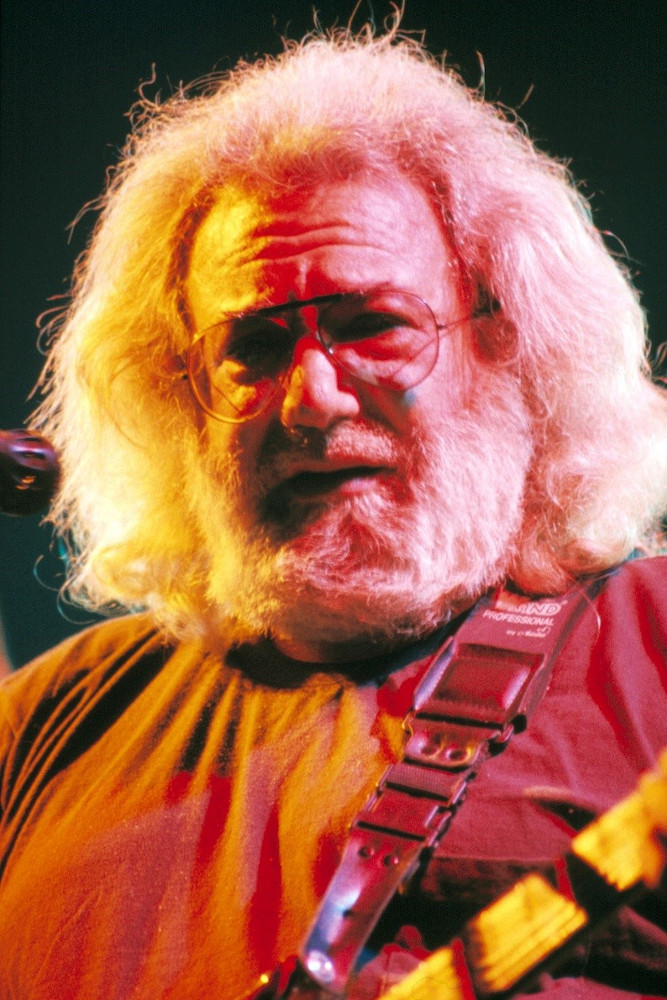 Jerry Garcia performing with the Grateful Dead at the Spectrum in Philadelphia