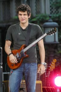 John Mayer performs during Good Morning America's concert series at Bryant Park in New York, July 2007.