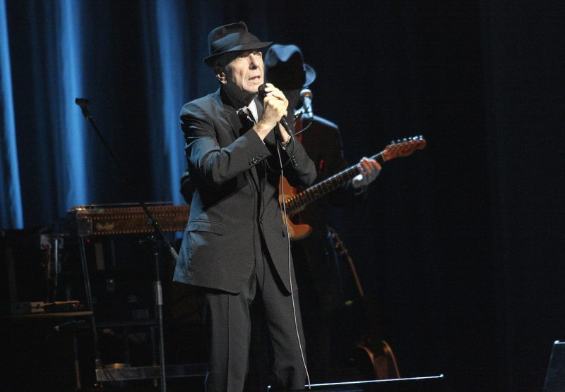 Leonard Cohen performs at the Beacon Theatre in New York in February 2009.