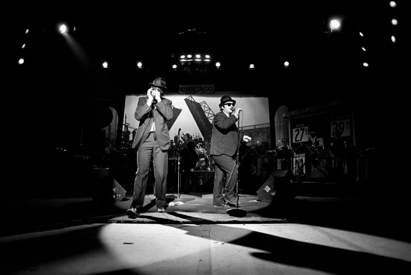 The Blues Brothers performing at the Tower Theater in Philadelphia in 1980