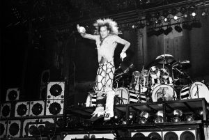 David Lee Roth of Van Halen performing at the Spectrum in Philadelphia