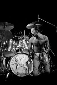 Freddie Mercury performing with Queen at the Spectrum in Philadelphia, PA