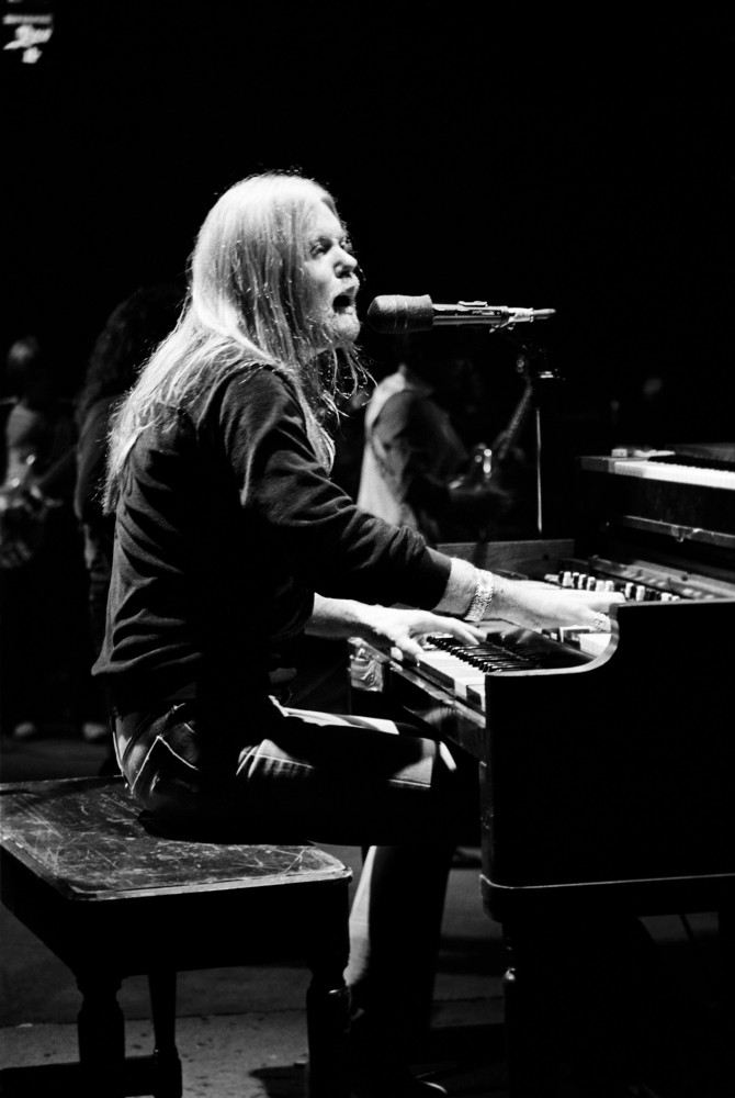 Gregg Allman performing in Philadelphia, PA, December 1981
