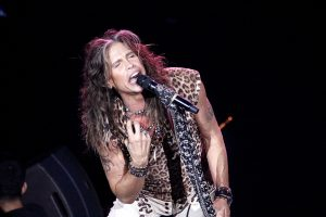Steven Tyler performing with Aerosmith in Atlantic City, N.J