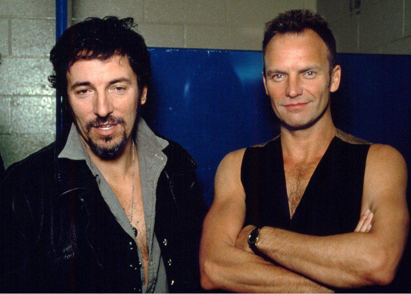 Bruce Springsteen and Sting in Philadelphia