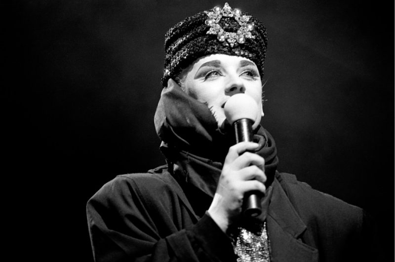 Boy George and Culture Club performing in Philadelphia