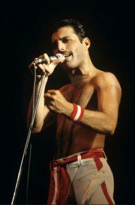 Freddie Mercury and Queen performing in Philadelphia