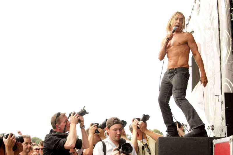 Iggy Pop performing