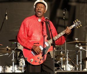 Chuck Berry performing in 2008ltimore, Maryland in
