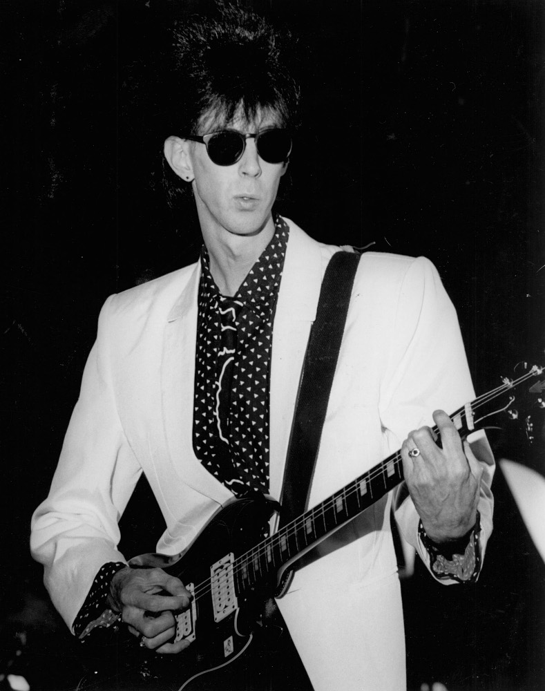 Ric Ocasek performing with The Cars
