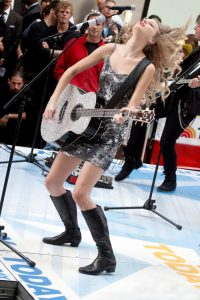 Taylor Swift performing on The Today Show