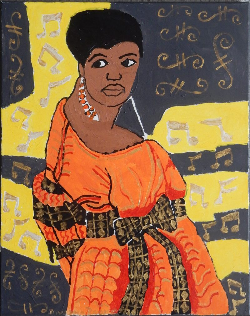 Aretha Franklin Painting